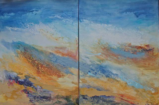 Jill Segal	Natures Power & Glory - diptych - $2100 each - 30x40 - acrylic