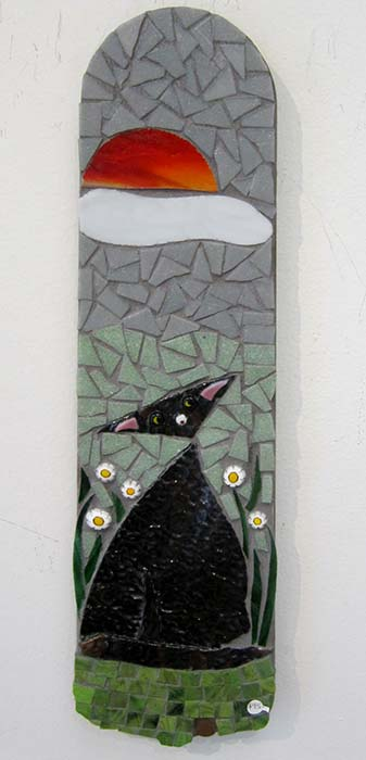 Black Cat Mosaic - $95