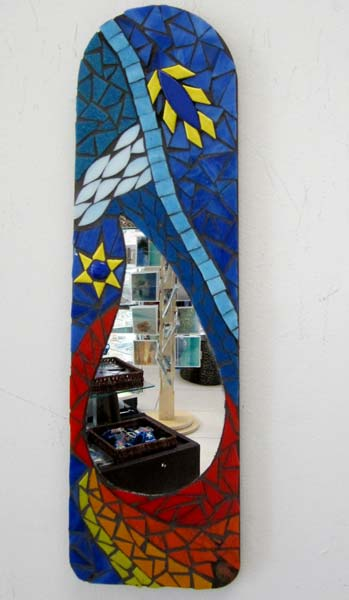 Mosaic Mirror on Fan Blade  - $95