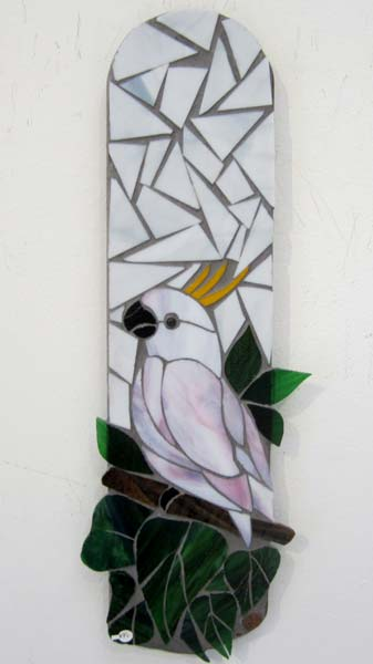 Mosaic Cockatoo on Fan Blade  - $95