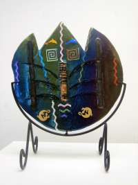Heather Forbes	Fused Glass with stand	Glass 13x13		 $280.00 - SOLD