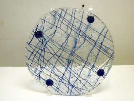 Heather Forbes	Blue Cheese Plate	9x9	Glass	 $98.00 - SOLD