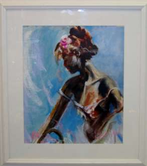 Brian Webster	Flower Girl	24x27	acrylic & pastel	 $895.00