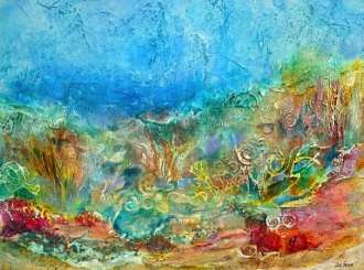 Jill Segal	Coral Reef Enchantment	40x30	mixed media	 $2,100.00