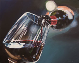 A Glass of Red - 24 x 30 - Acrylic - $1,800.00