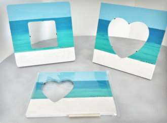 Photo Frames	8x8	acrylic Grace Bay Sand 	 $45.00