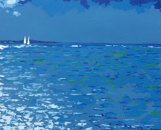 Grace Bay - 20 x 16 - Acrylic paint & palette knife - $395.00