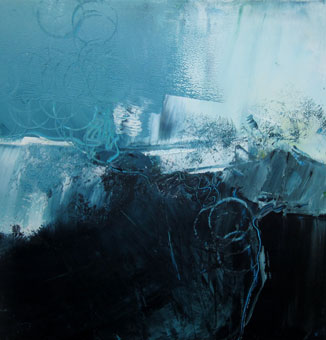 Jill Segal	Ocean Energy 1	16x16	oil paint and cold wax $395.00