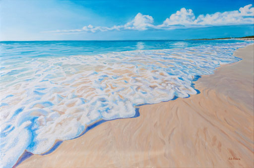 Liz Zahara The Shores Of Grace Bay 36x24 - $1,600.00 - acrylic
